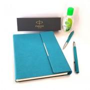 Pachet Stilou si Pix Vector Royal Standard Emeral CT Parker in caseta cadou cu agenda + gel dezinfectant de maini 50 ml