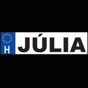 Júlia - Név rendszámtábla