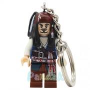 Generic Pirates of The Caribbean Jack Sparrow Figure Keychain Davy Jones Salazar Barbossa Key Chain Ring DIY Building Blocks Bricks Toys Captain Jack
