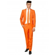 Deguisetoi Costume Mr. Solid orange homme Suitmeister - Taille: L (EU 54)