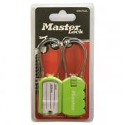 Set 2 ks visacích zámků pro zavazadla 4684EURTCOL - Master Lock - zelený