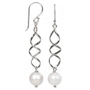 JwL Luxury Pearls Elegantní stříbrné náušnice s pravou bílou perlou JL0158