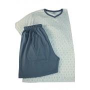Brent bavlněné pyžamo pro pány L světle modrá