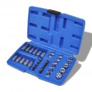 vidaXL Gola sada torx nástrčné a zástrčné klíče 34 ks s pouzdrem pro uložení