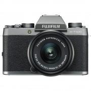 Fujifilm X-T100 Aparat Foto Mirrorless 24.2MP APSC Kit cu Obiectiv 15-45mm f/3.5-5.6 OIS PZ Dark Silver
