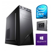Intel PC COMPUTER ASSEMBLATO INTEL QUAD CORE i5 4GB SSD 130GB + HDD 1TB DVDRW WINDOWS 10 PROFESSIONAL