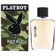 Playboy play it wild for him 100 ml eau de toilette edt profumo uomo