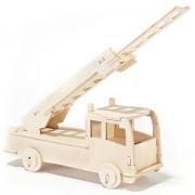 Holzbausatz Feuerwehrauto, 17,5 x 31 cm