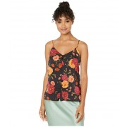 Cupcakes and Cashmere Mara Barcelona Floral Button Front Cami Black