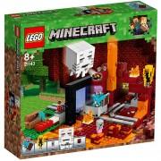 Set de constructie LEGO Minecraft Portalul Nether