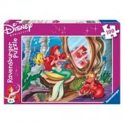 Puzzle Lumea subacvatica a lui Ariel, 100 piese, RAVENSBURGER Puzzle Copii