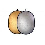 Blenda 2w1 owalna srebrno złota, rozmiar 92x122cm