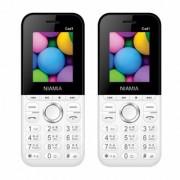 Niamia CAD 1 White Basic Keypad Feature Mobile Phone Combo