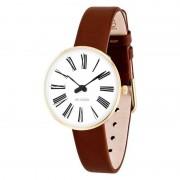 Arne Jacobsen Clocks Armbandsur Roman Vit/guld/brun 30 mm Arne Jacobsen Clocks