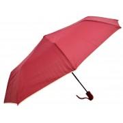 Umbrela Pliabila ICONIC Automata, Visiniu cu margini bej, Ø110cm, articulatii anti-vant