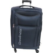 Goodness 24 Inches Polyester Travel Luggage Spinner Trolley Bag Suitcase - Sun Expandable Cabin Luggage - 24 inch(Blue)