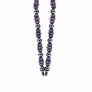 Zinzi ZIC931P Ketting Cateye purple incl. slot