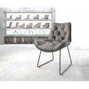 DELIFE Eetkamerstoel Taimi-Flex grijs vintage slipframe zwart