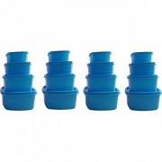 Plastic Food Storage Containers Set of 16 PCS (1350 ml 750 ml 500 ml 250 ml) Blue