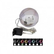 EUROPALMS LED Snowball 15cm, red
