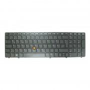 HP Laptop Toetsenbord Qwertz DE (Win8) + Backlight voor HP EliteBook 8570w, ZBook 15