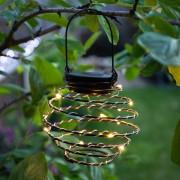 """Kerti napelemes LED spirál lampion """"méhkas"""" világítás sötétbarna 20 cm"""