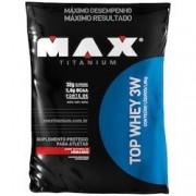 Max Titanium Whey Protein 3W Max Titanium Top Whey 3W - Morango - 1,8Kg