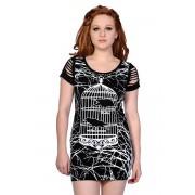 BANNED női ruha (tunika) - Birdcage - Black - OBN143BLK