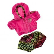 "Pink Jogging Outfit Teddy Bear Clothes Fit 14"" - 18"" Build-a-bear, Vermont Teddy Bears, and Make You"