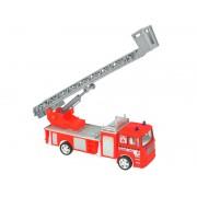 Masina de pompieri - autospeciala cu scara extensibila rotativa 360 grade, culoare Rosu-Gri