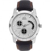 Louis Geneve LG-MW-B-WHITE-51A Black Quartz Watch For Men