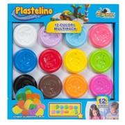 Plastelino - Pasta de modelat, 12 culori