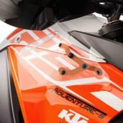 KTM 1090 Super Adventure Upper And Lower Wind Deflectors Clear M9623W