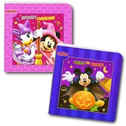 Disney Mickey Mouse and Minnie Mouse Halloween Board Book Set For Kids Toddlers (Set of 2 Small Board Books)