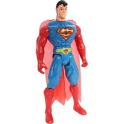Superman Super Hero Action Figure Figurine Toy with Led Light (21cms)