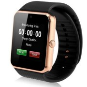 "Ceas Smartwatch cu Telefon IMK GT08, Camera 1,3 Mpx, Apelare BT, LCD Capacitiv 1.54"" Antizgarieturi, Slot Card, Gold"