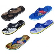 Indistar Men Step Care Comfortable Flip Flop House Slipper And Hawaai Chappal (Pack Of 5 Pairs)-Assorted_Multiple color_Size-8