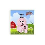 Set POOKIE the Pig - Valiza tip trolley si ghiozdan (rucsac) pentru copii
