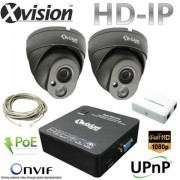 IP CCTV systém 2x Full HD IP dome kamera + NVR