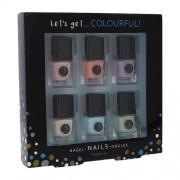 2K Let´s Get Colourful! Pastels zestaw Lakier do paznokci 6 x 5 ml dla kobiet