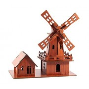 3 D Woodedn Puzzles Musical Instruments Puzzle Educational Toy C Windmill