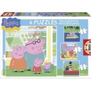 Educa Borr s Peppa Pig Puzzles Progressive, 6 9 12 16 Pieces (Educa 15918)