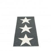 pappelina Viggo Star Outdoor-Teppich - schwarz metallic / vanille 70 x 150cm