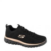Skechers sneakers zwart/goud