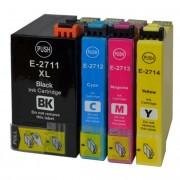 Set 4 cartuse imprimanta Epson T2711 T2712 T2712 T2714 compatibile 27XL