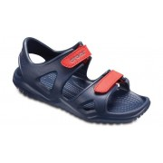 Crocs Swiftwater™ River Sandalen Kinder Navy / Flame 29