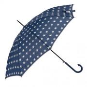 Clayre & Eef JZUM0012BL Esernyő 98x55cm, kék- krém csillagos