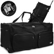 Cross160L pojízdná cestovní taška DEU889 černá