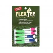 FlexTee Flexible Fluorescent Golf Tees Green/Blue/Pink-8 Pack