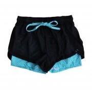 Outdoor Sports Summer Women Shorts Loose Side Split Yoga Gym Running Clothing Honeycomb Blue